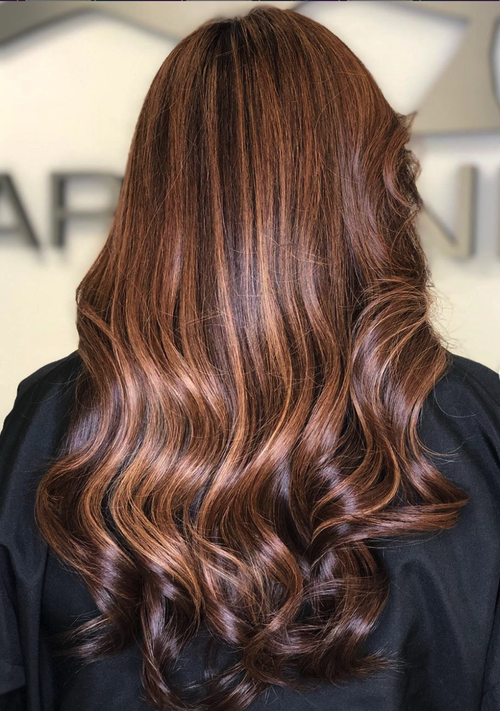 Hair color and beach waves done at Salon Armandeus Coconut Creek